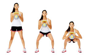 postnatal exercise: The kettlebell squat is better than the swing